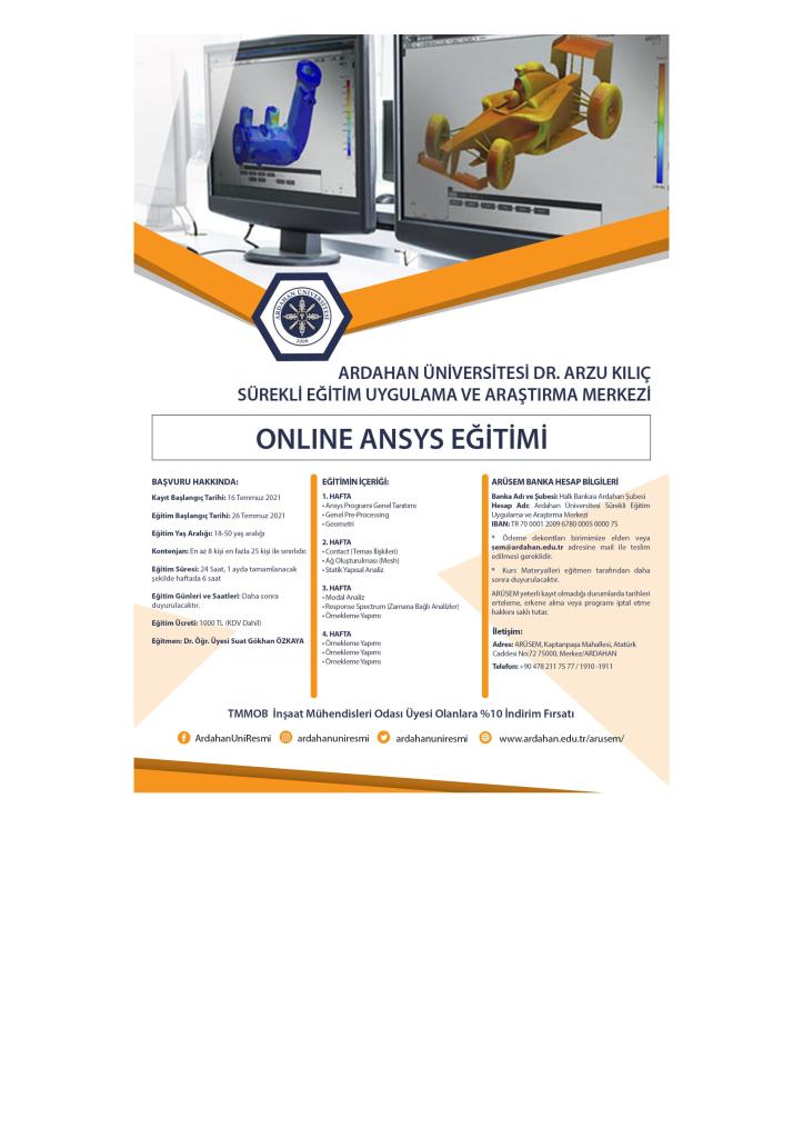 Online Ansys Eğitimi