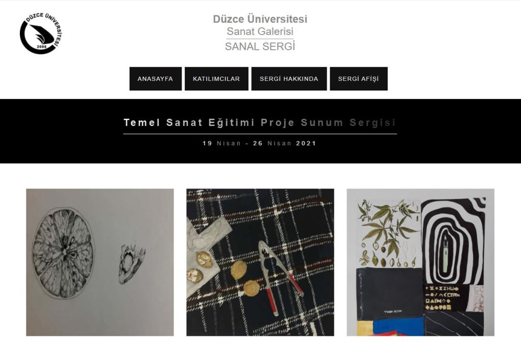 Üniversitemizden Temel Sanat Eğitimi Proje Sunum Sergisi