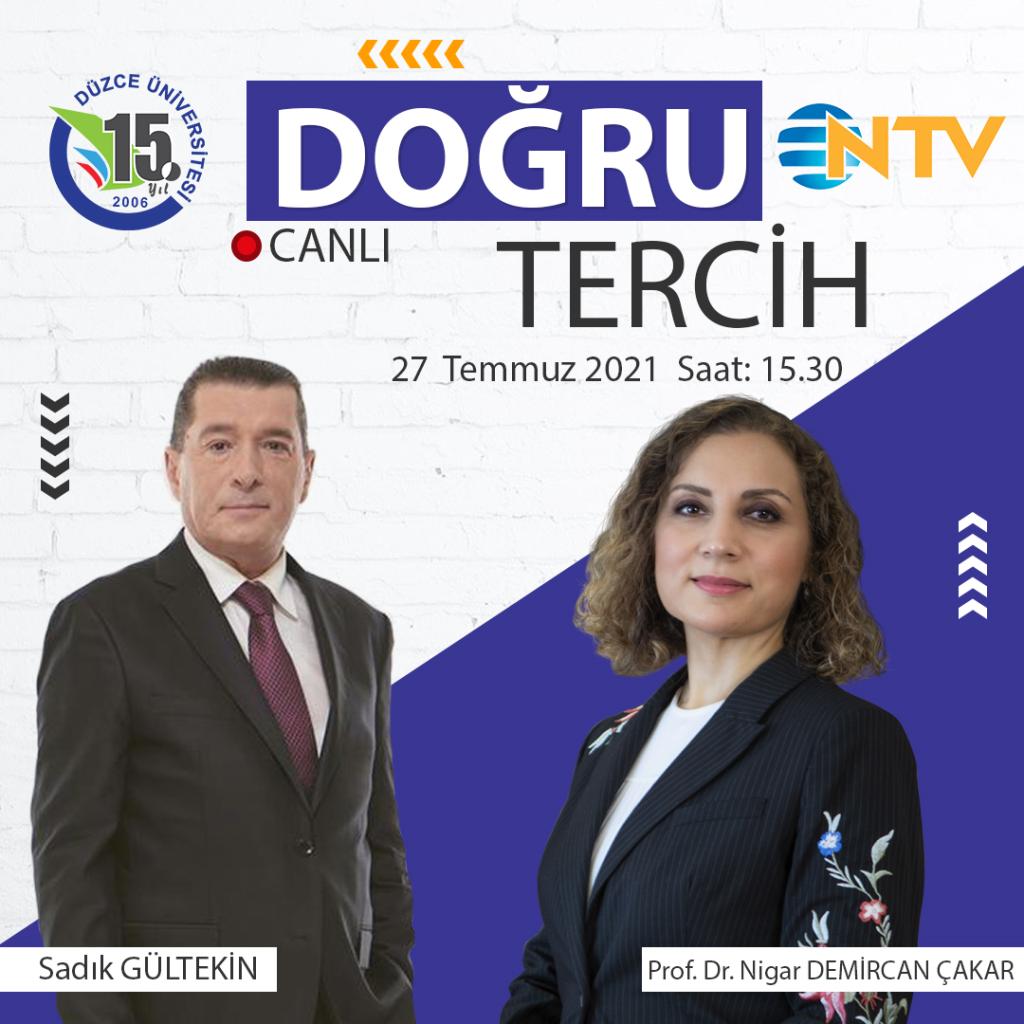 Rektörümüz NTV Doğru Tercih Programına Konuk Oluyor