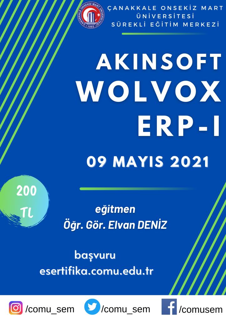 AKINSOFT Wolvox ERP I Sertifika Programı