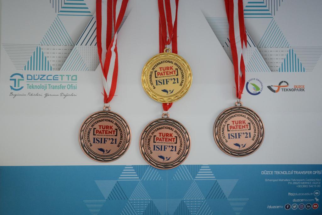 Üniversitemize 6. İstanbul Uluslararası Buluş Fuarı ISIF'21'de 4 Madalya