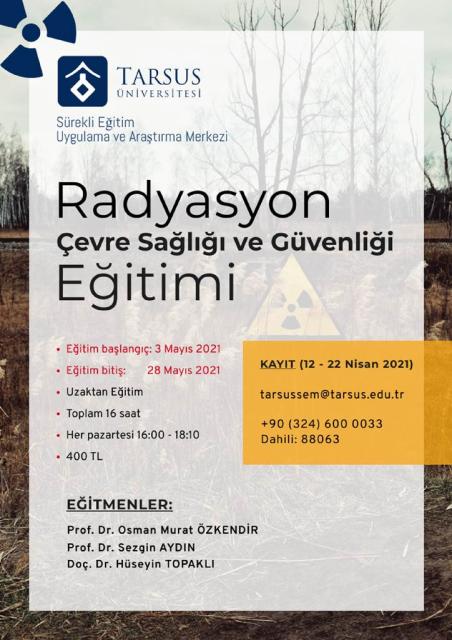Radyasyon-Çevre Sağlığı ve Güvenliği Kursu
