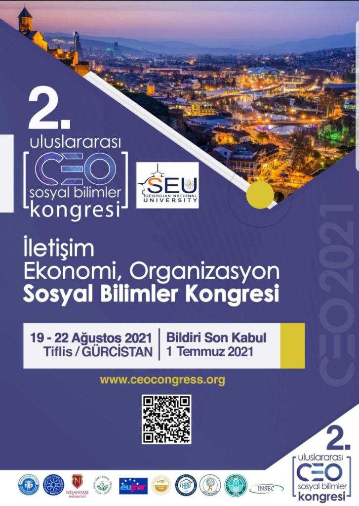 2. Uluslararası CEO İletişim, Ekonomi ve Organizasyon Sosyal Bilimler Kongresi