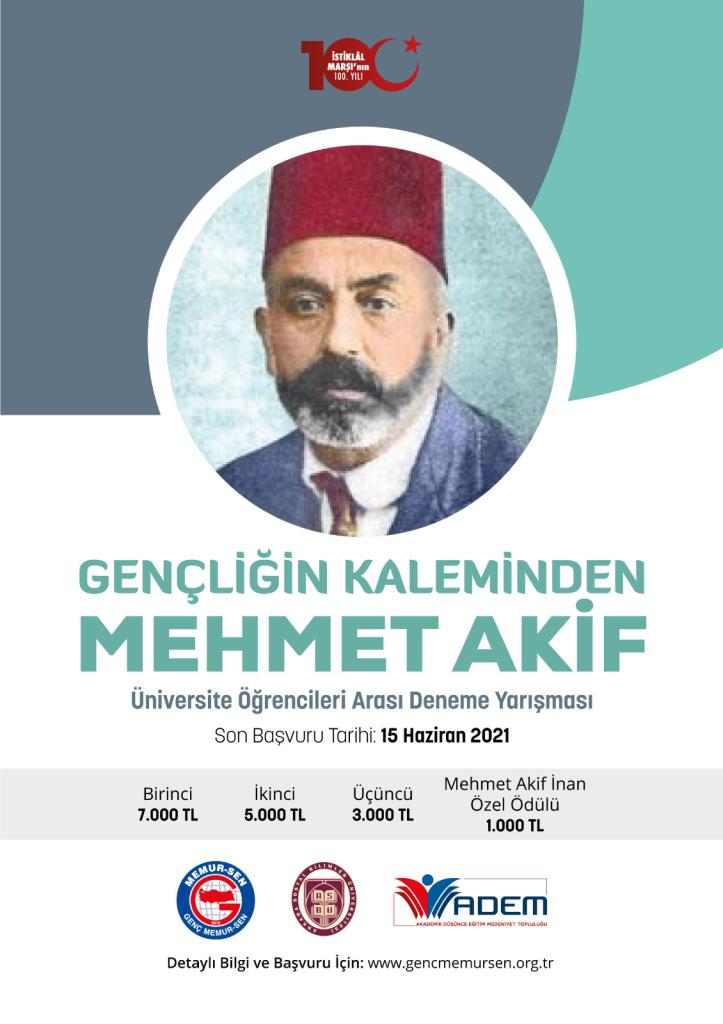 Gençliğin Kaleminden Mehmet Akif Başlıklı Deneme Yarışması