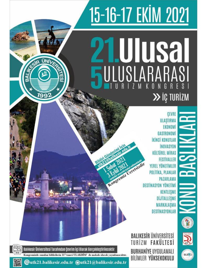 21. Ulusal 5. Uluslararası Turizm Kongresi