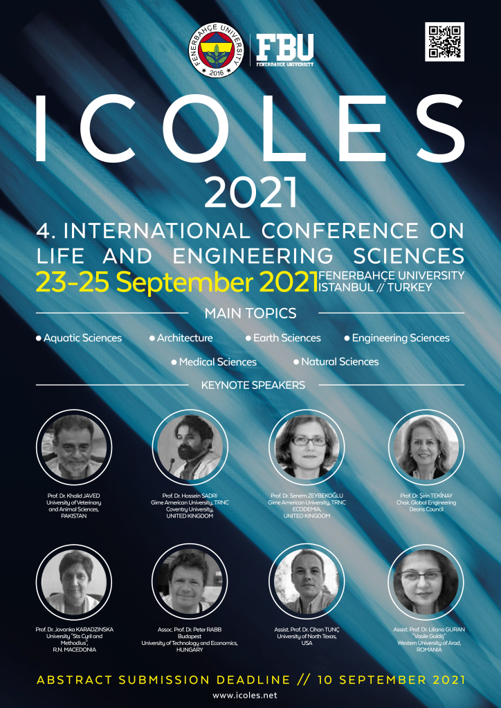 4. International Conference on Life and Engineering Sciences (ICOLES 2121)
