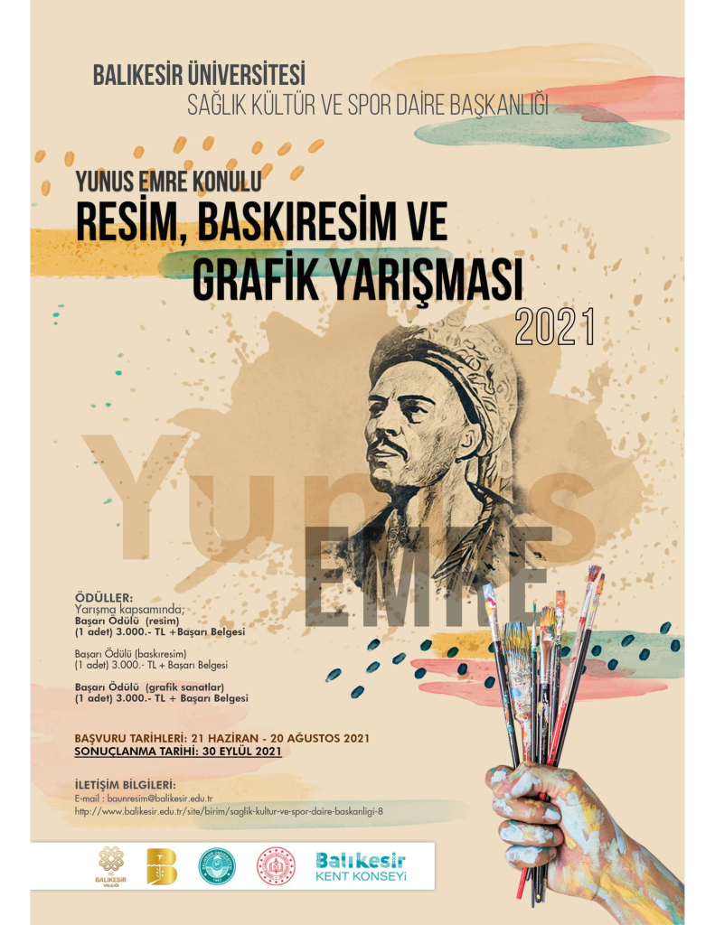 Yunus Emre Şiirleri Konulu Resim - Baskı Resim -Grafik Sanatlar Yarışması