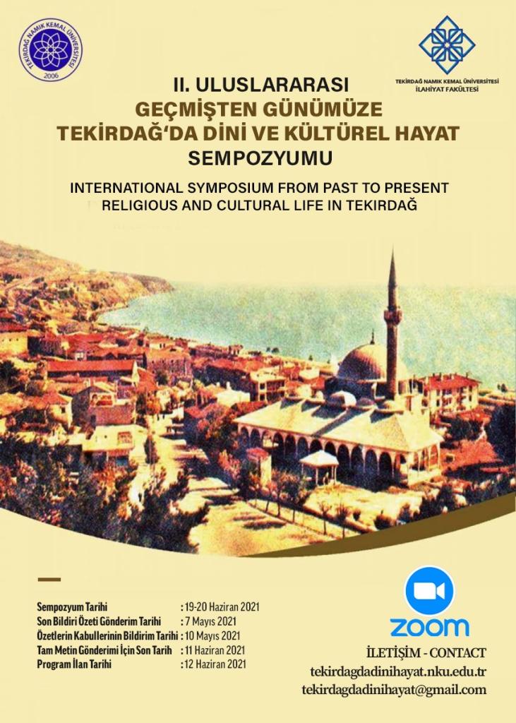 II. Uluslararası Geçmişten Günümüze Tekirdağ'da Dini ve Kültürel Hayat
