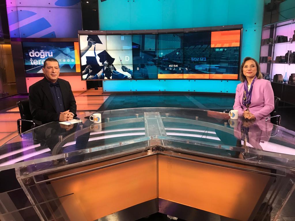 Rektörümüz NTV'deki Doğru Tercih Programına Canlı Yayın Konuğu Olarak Katıldı