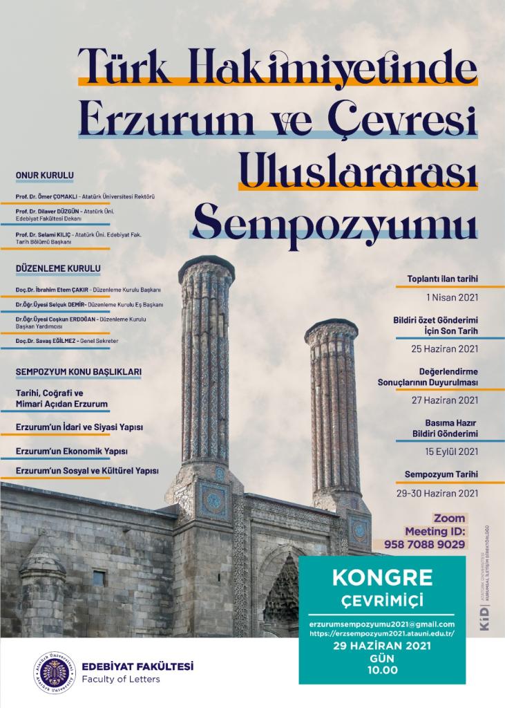 Türk Hakimiyetinde Erzurum ve Çevresi Uluslararası Sempozyumu