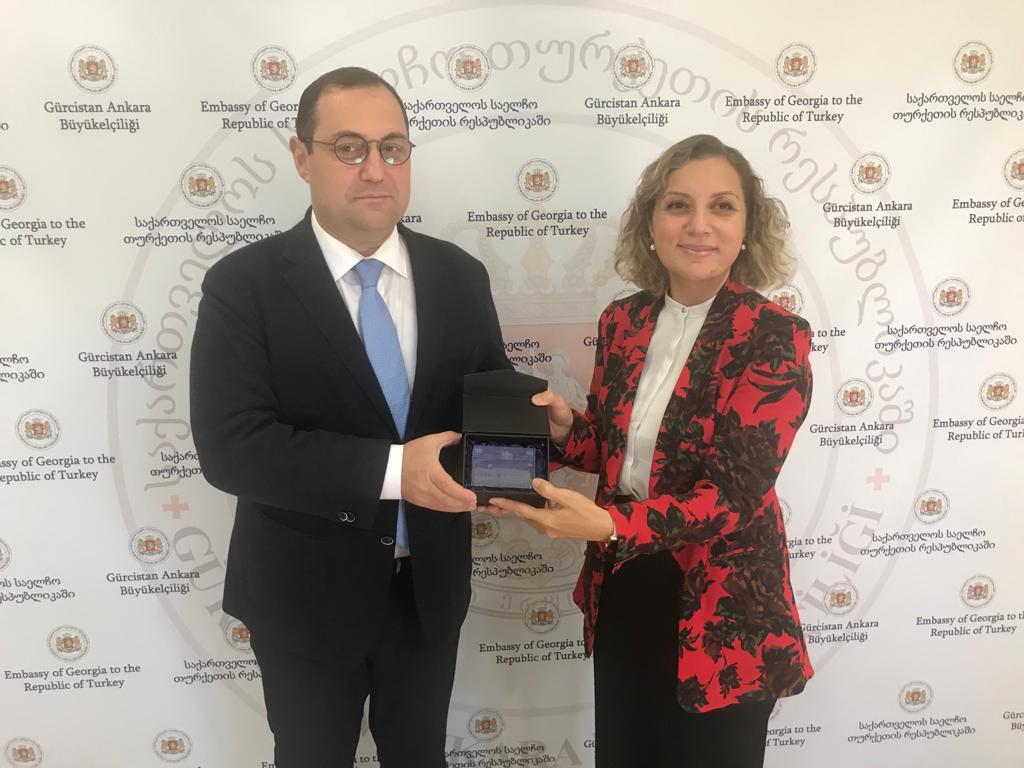 Rektörümüz Gürcistan'ın Ankara Büyükelçisi Giorgi Janjgava'yı Ziyaret Etti