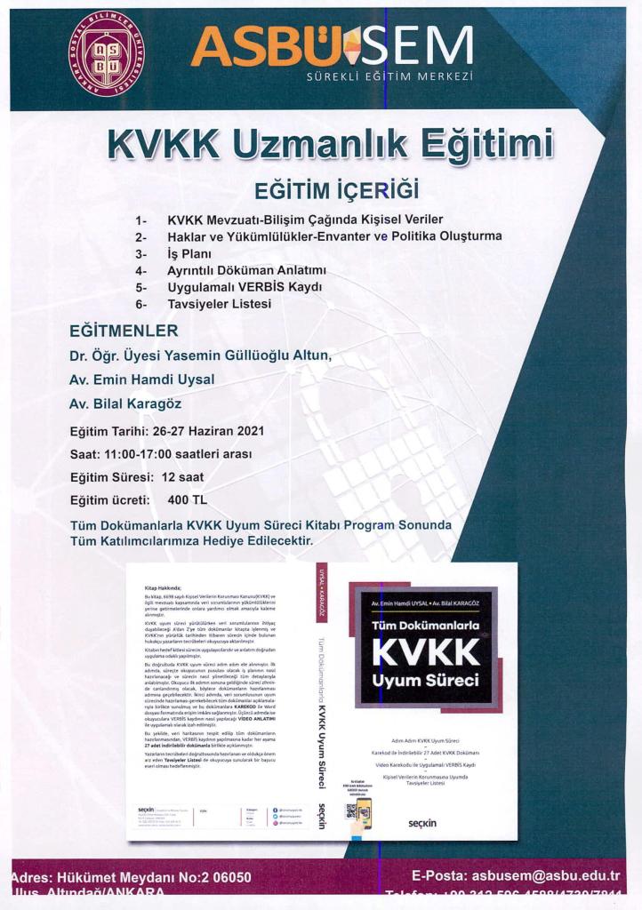 KVKK Uzmanlık Eğitimi